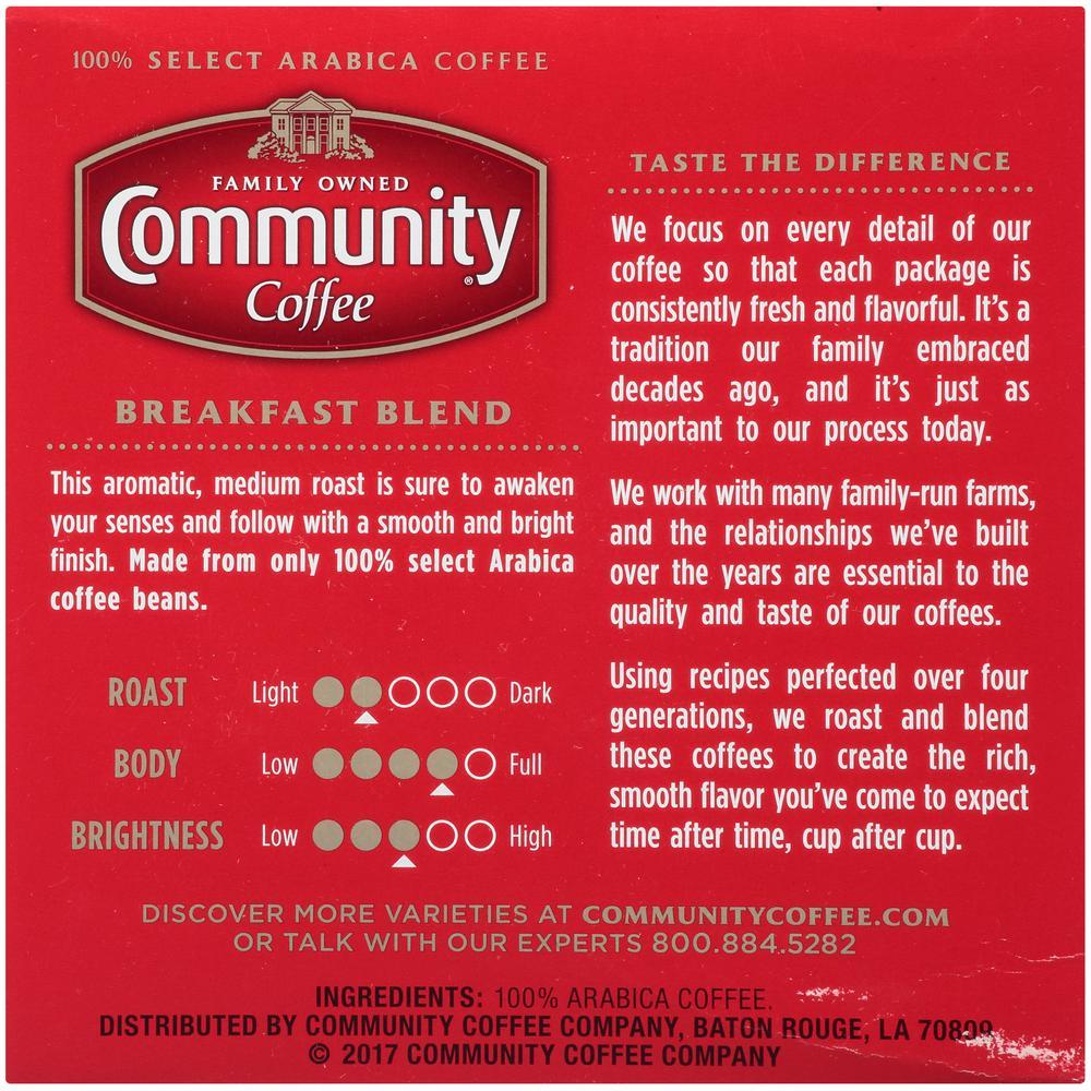 Community Coffee Breakfast Blend Medium Roast Single Serve Cups (144-Pack)