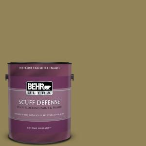 Behr Ultra 1 Gal S330 6 Dash Of Oregano Extra Durable Eggshell Enamel Interior Paint Primer 275301 The Home Depot