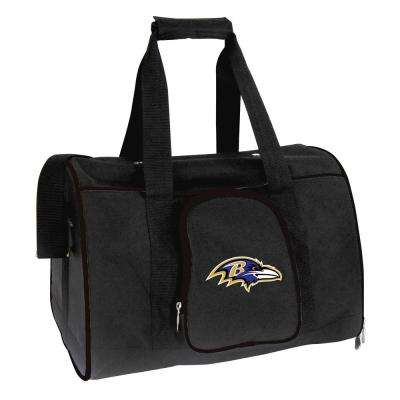 NFL Baltimore Ravens Pet Carrier Premium 16 in. Bag in Black