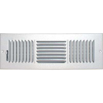 4 in. x 14 in. Ceiling/Sidewall Vent Register, White with 3-Way Deflection