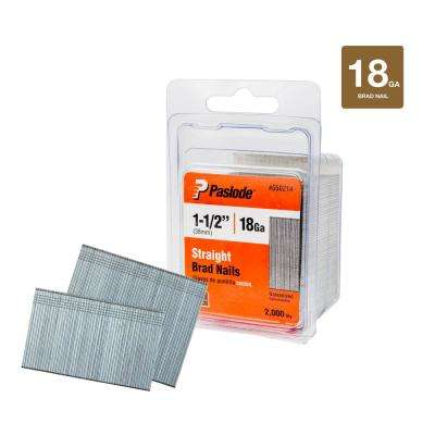 1-1/2 in. x 18-Gauge Galvanized Brad Nails (2000 per Box)