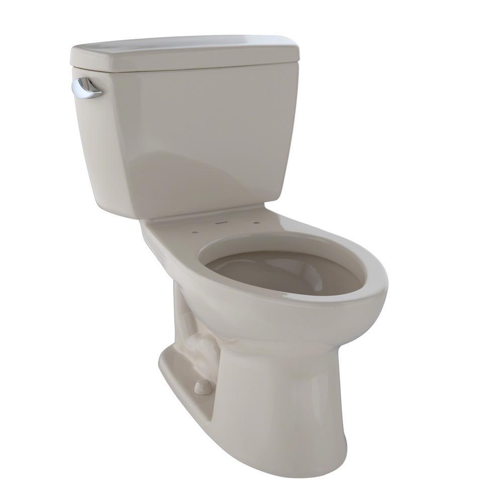 Drake ADA Compliant 2-Piece 1.6 GPF Single Flush Elongated Toilet in Bone