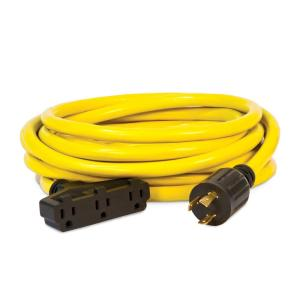 Click here to buy Champion Power Equipment 25 ft. 120-Volt Generator Power Cord by Champion Power Equipment.