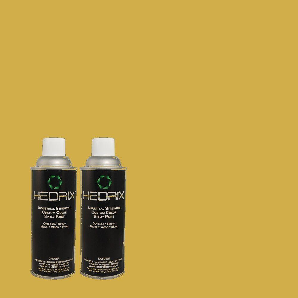 Hedrix 11 oz. Match of 380D-6 Leapfrog Flat Custom Spray Paint (2-Pack)