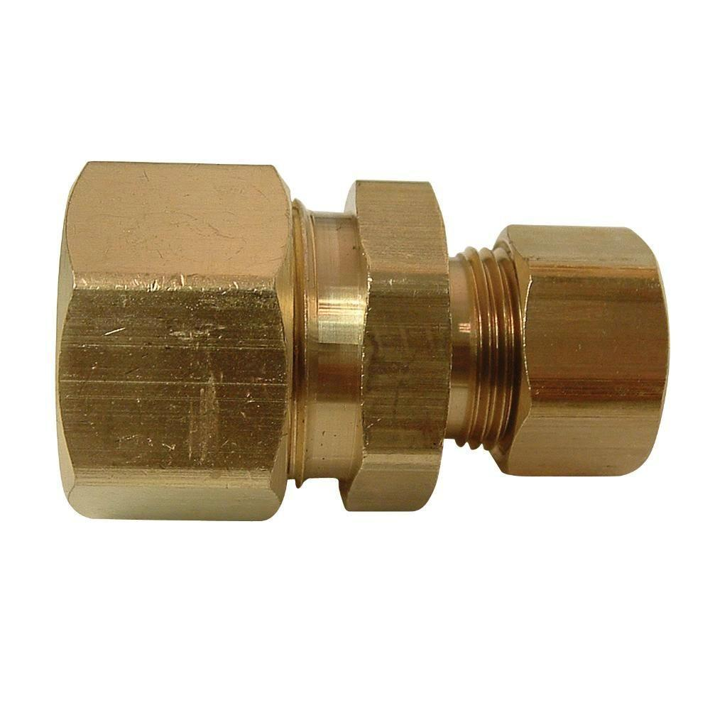 5/8 in. x 3/8 in. Brass Compression x Compression Reducing Union