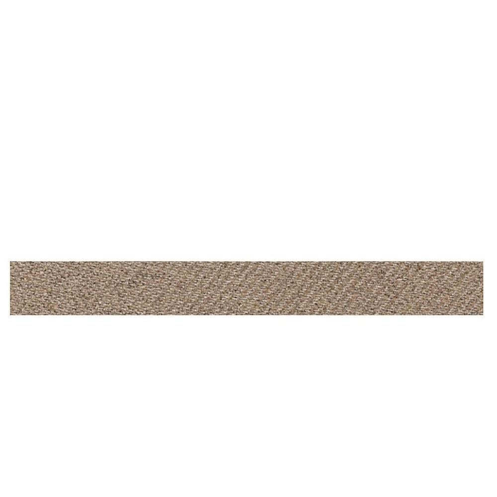 Daltile Identity Imperial Gold Fabric 1 in. x 6 in. Porcelain Cove Corner Floor and Wall Tile-DISCONTINUED
