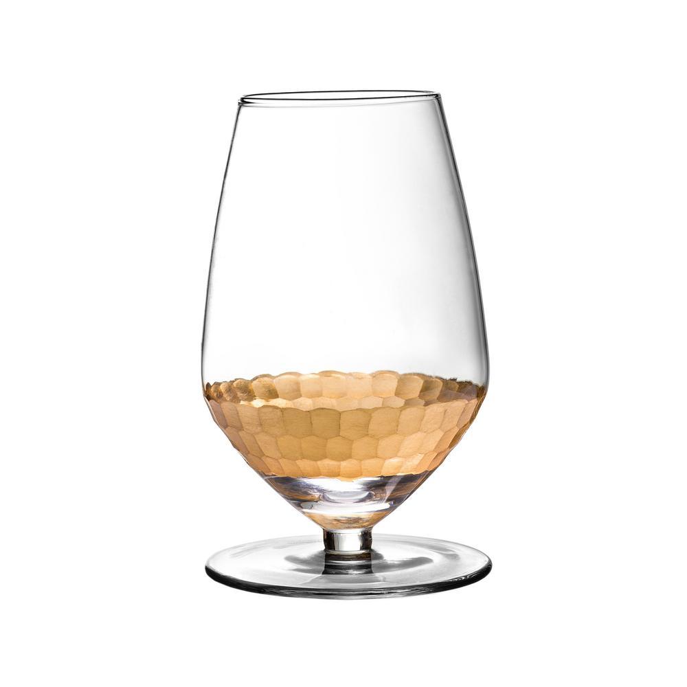 Daphne 15.2 oz., 3.35 in. x 5.5 in. BB Gold Sauvignon Wine Glass