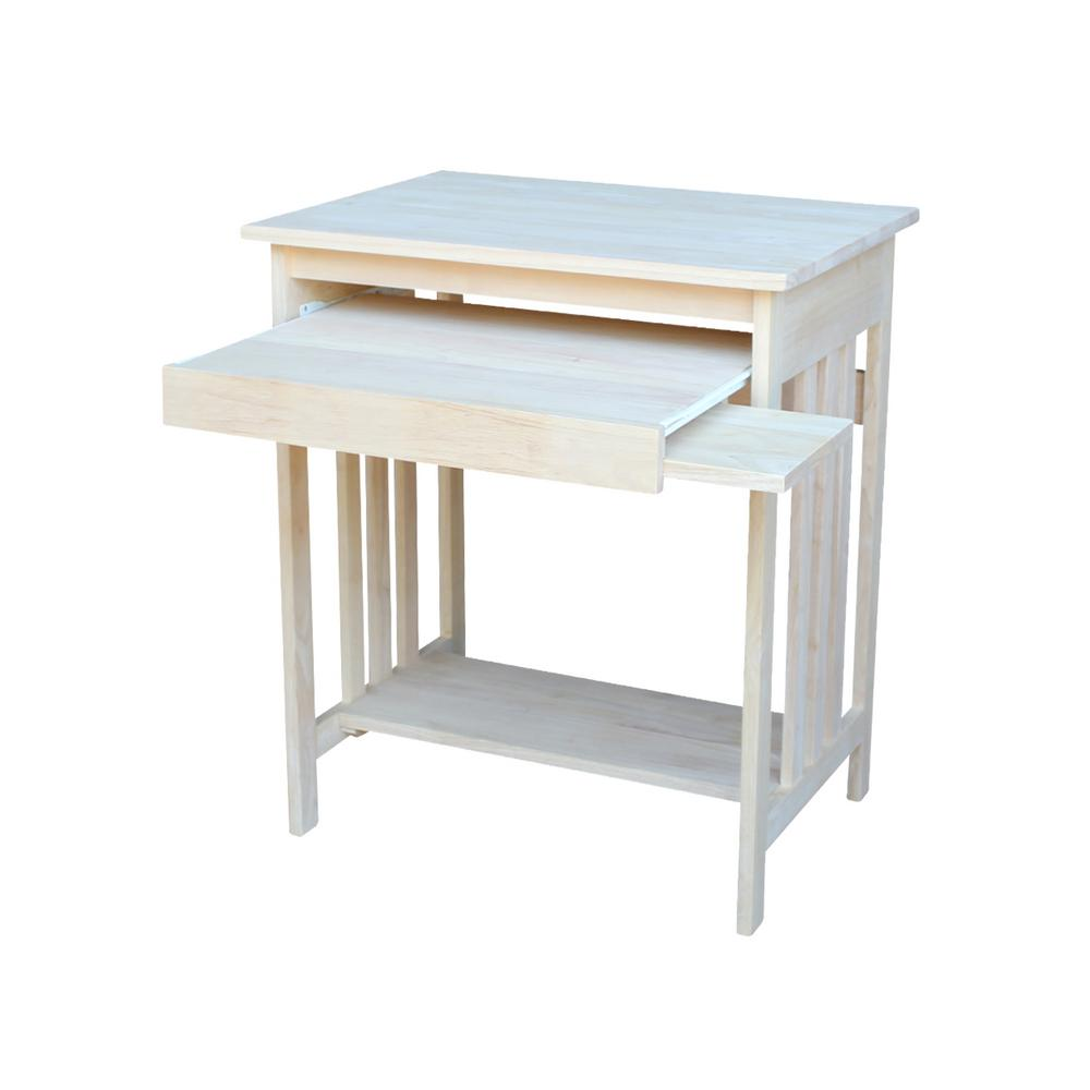 International Concepts Unfinished Keyboard Tray Desk
