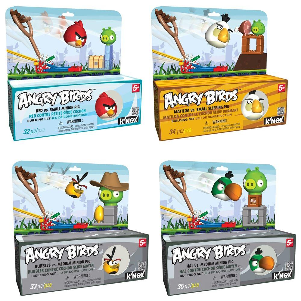 K'NEX Angry Birds Intro Assortment (4-Pack)