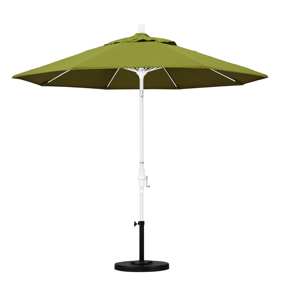 9 ft. Fiberglass Collar Tilt Patio Umbrella in Ginkgo Pacifica