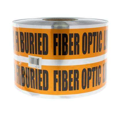 6 in. x 1,000 ft. Detectable Underground Caution Buried Fiber Optic Line, Orange