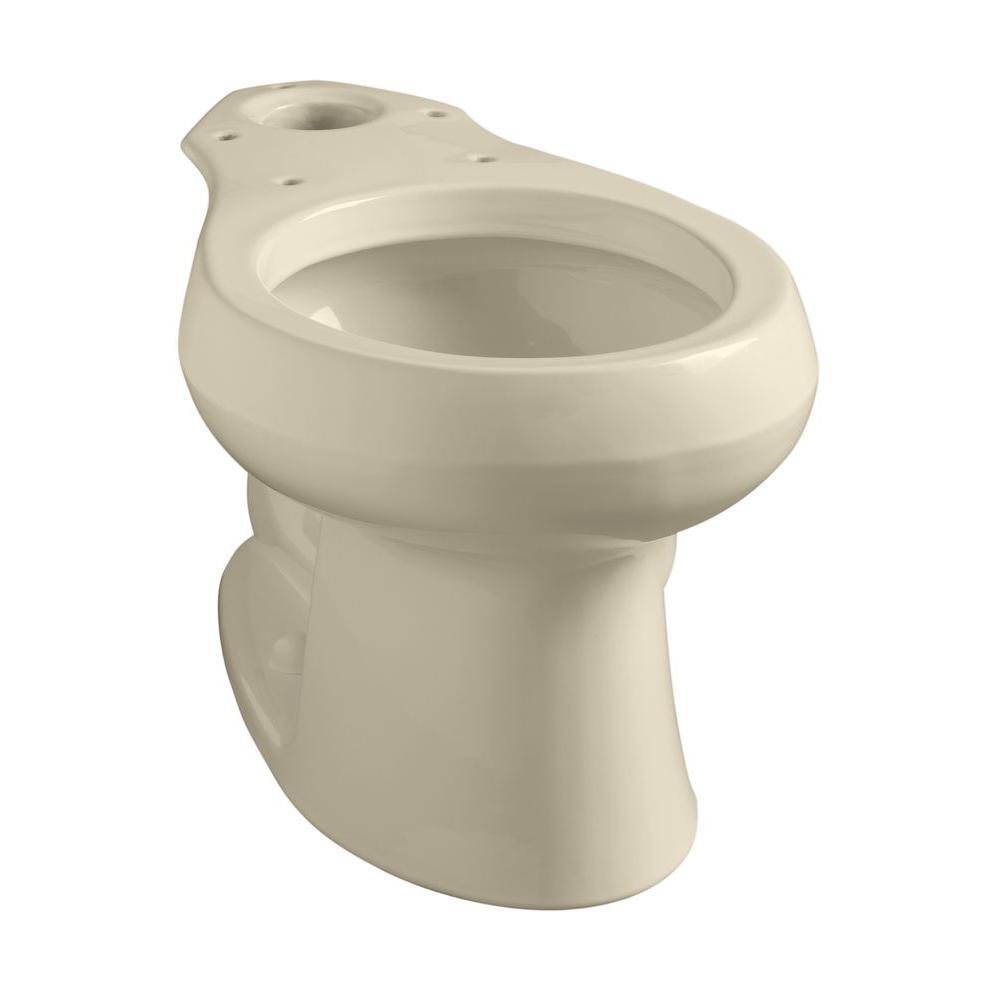 KOHLER Wellworth Round Toilet Bowl Only in Almond