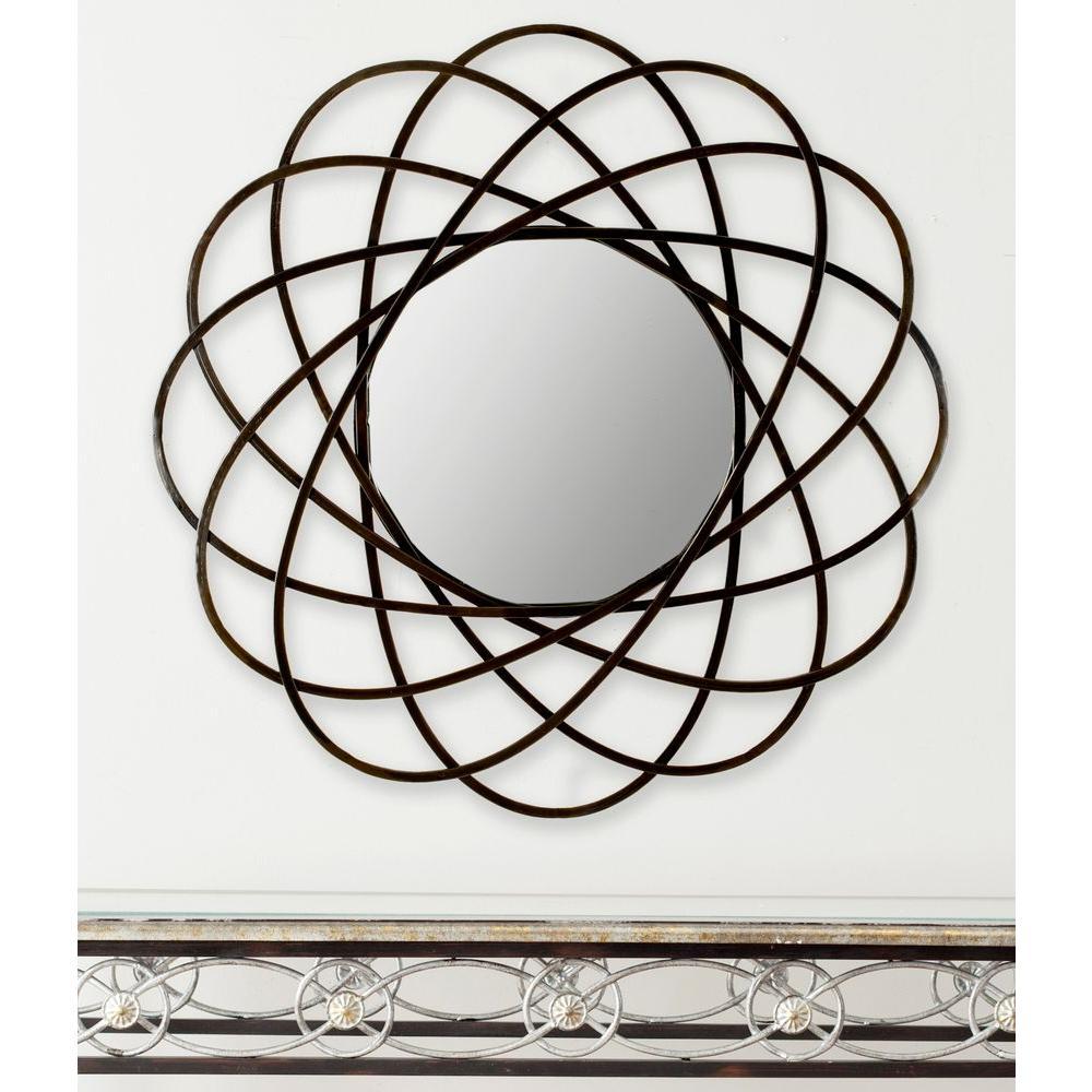 Galaxy 32 in. x 32 in. Iron Framed Wall Mirror