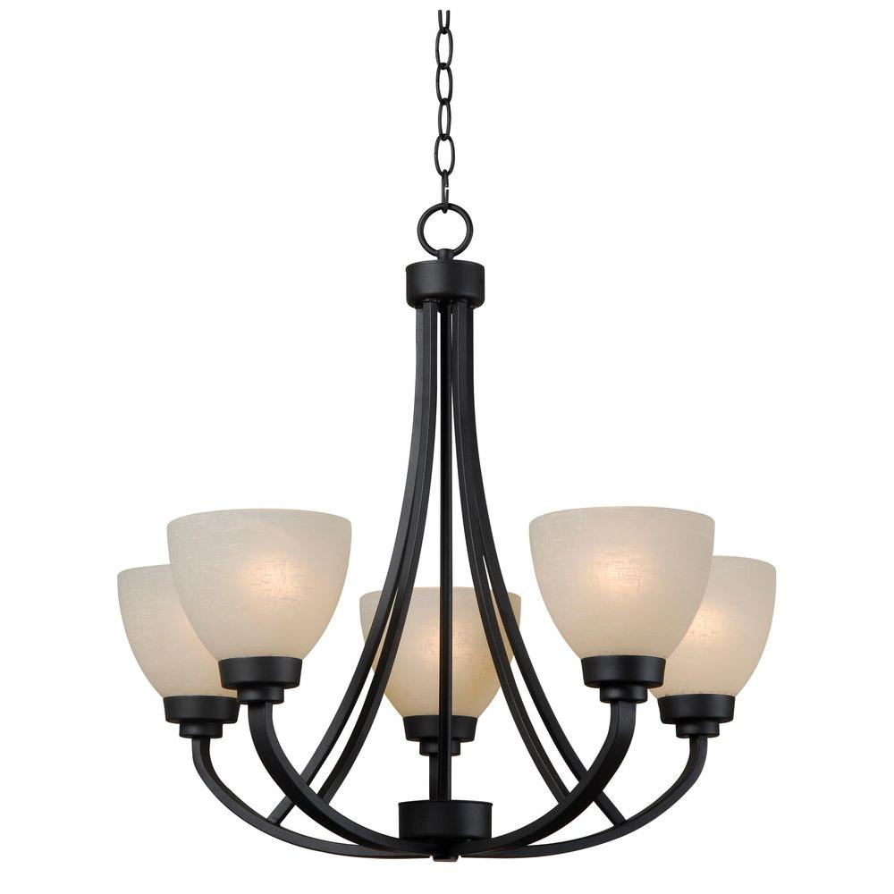 Unbranded Dynasty 5-Light Burnished Bronze Chandelier ...