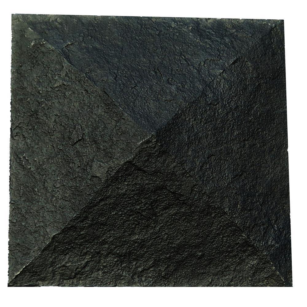 Sandstone 18 in. x 18 in. Onyx Faux Polyurethane Stone Column Wrap Cap