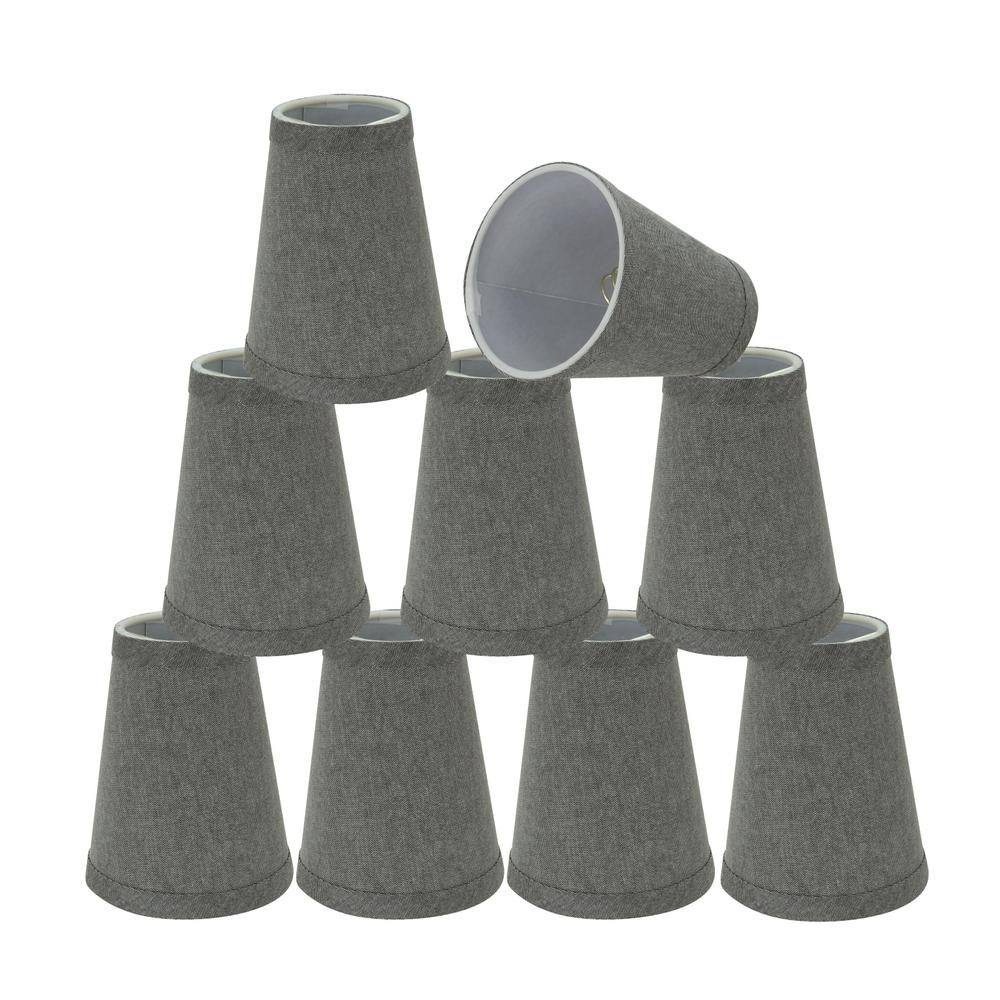 4 in. x 5 in. Grey Hardback Empire Lamp Shade (9-Pack)