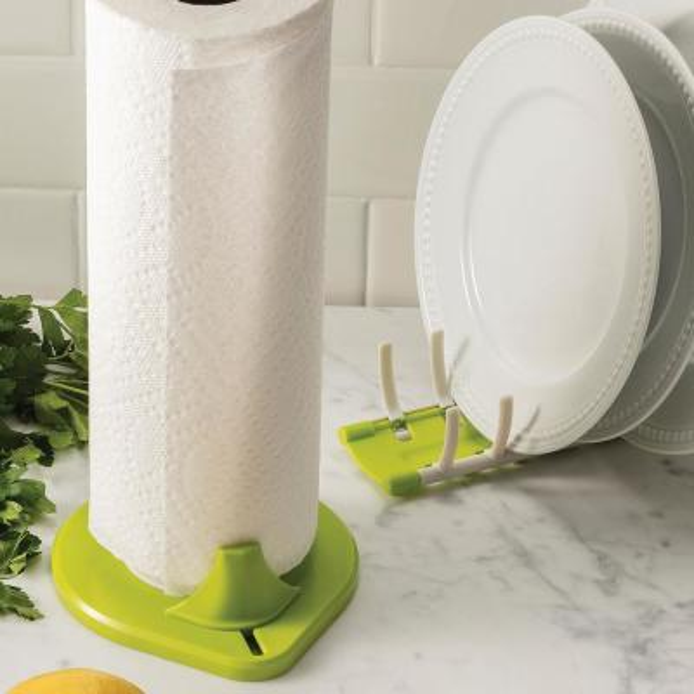 Low Profile Countertop Green Paper Towel Holder