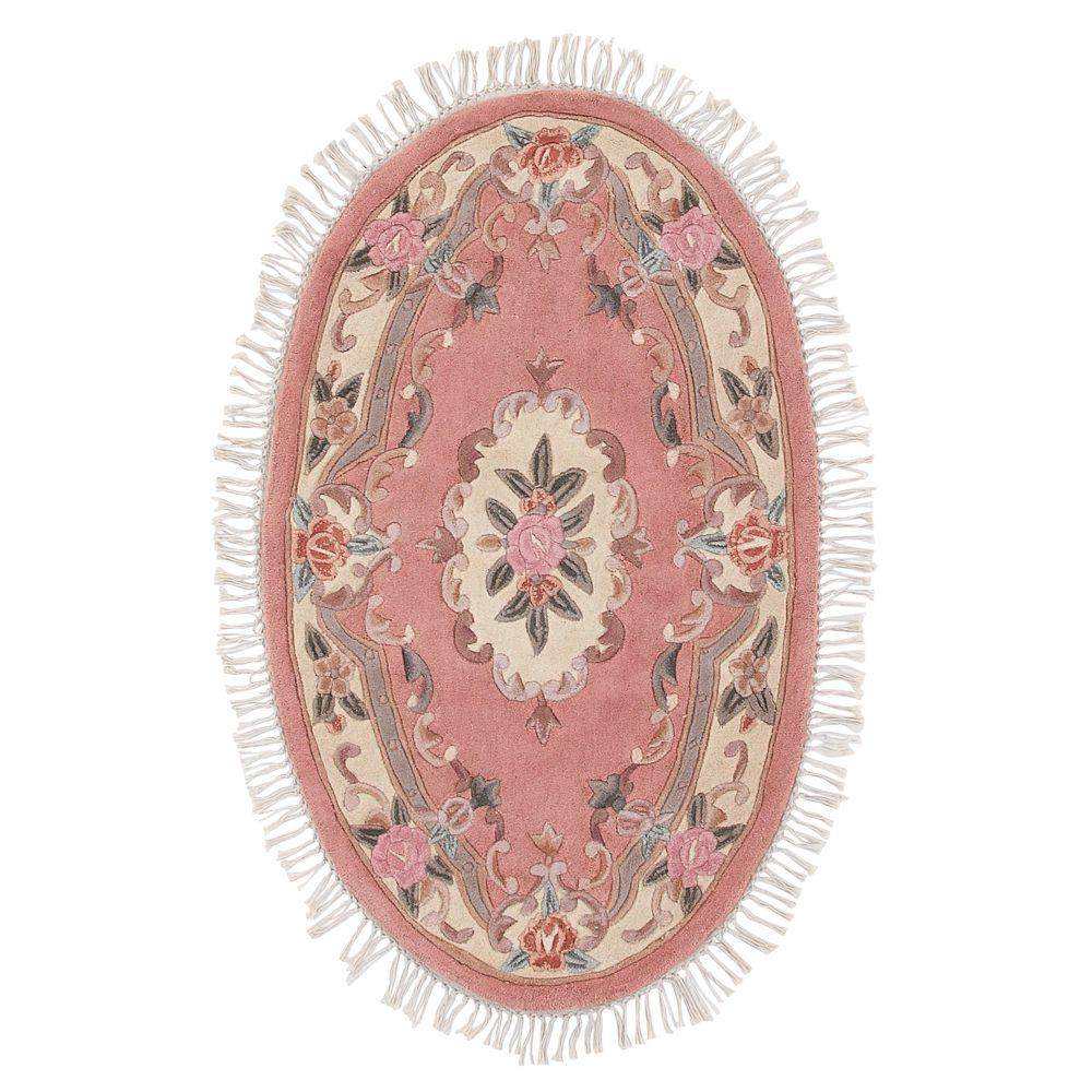 Home Decorators Collection Imperial Peach 5 ft. x 8 ft. Oval Area Rug