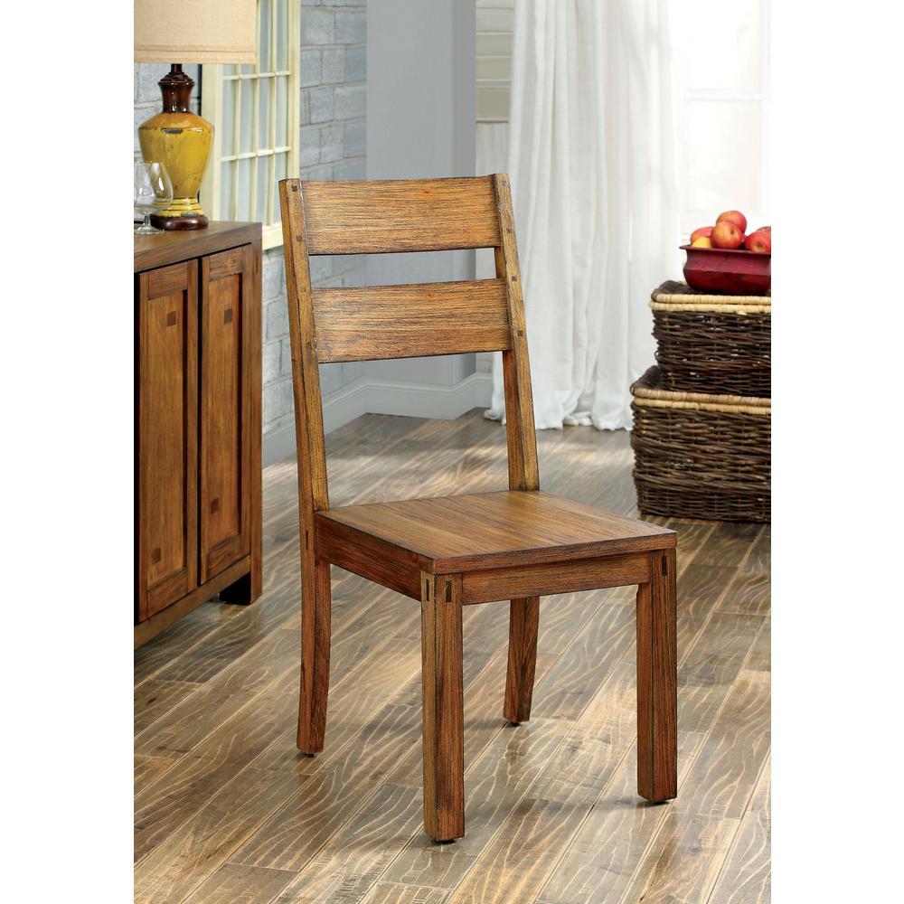 Frontier Dark Oak Transitional Style Side Chair (2-Pack) CM3603SC-2PK