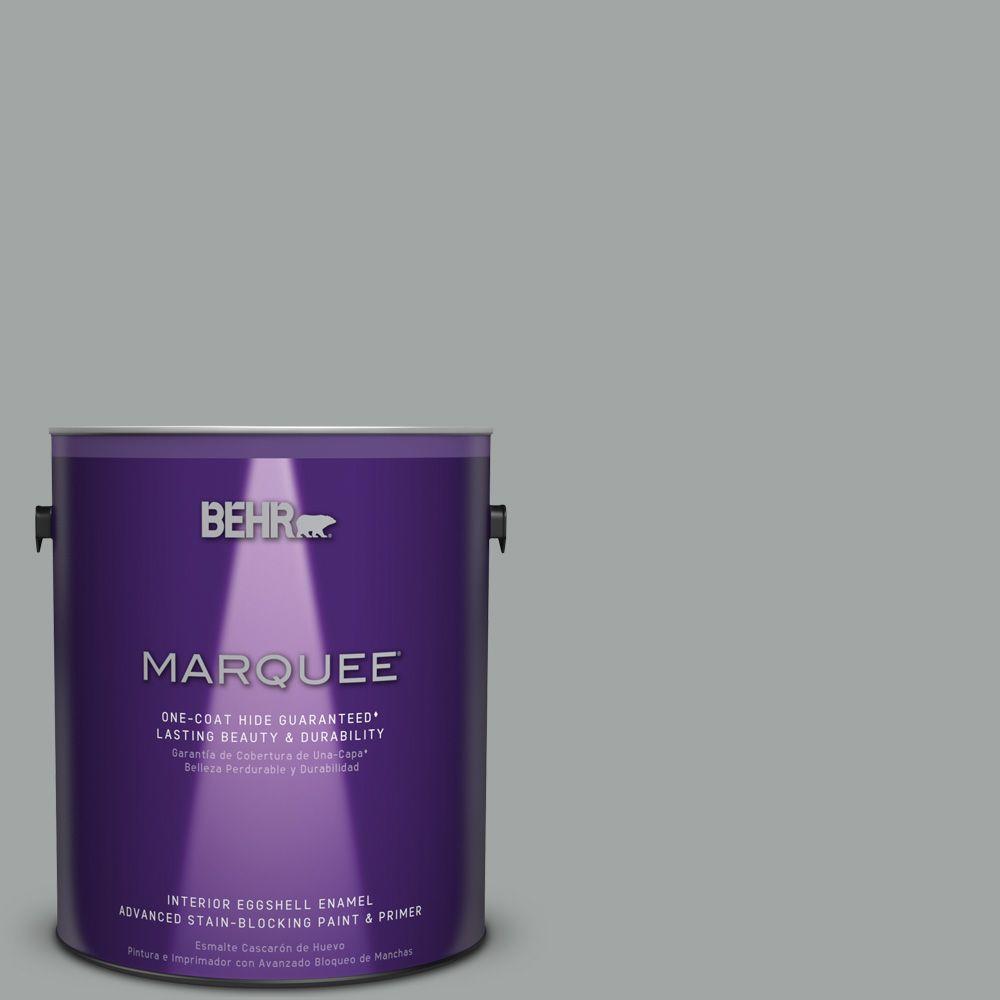 1 gal. #PPU25-04 Sharkskin Suit Eggshell Enamel Interior Paint