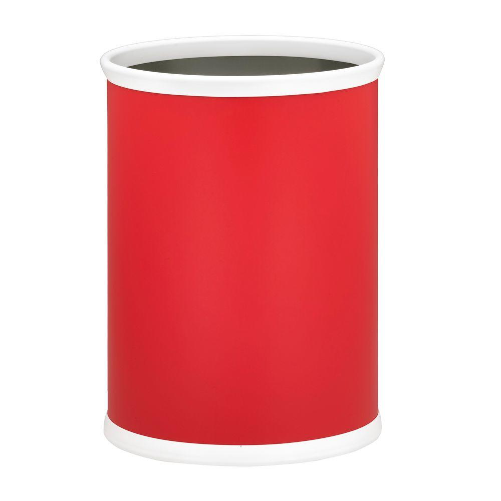Kraftware Bartenders Choice Fun Colors Red 13 Qt. Oval Waste Basket