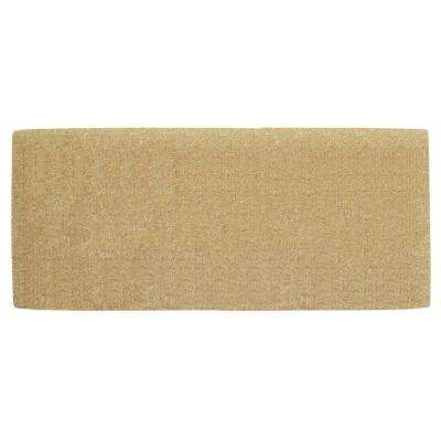 No Border Plain 24 in. x 57 in. Coir Door Mat
