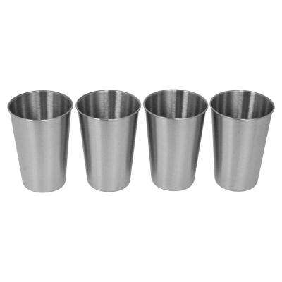 16 oz. 4-Piece Stainless Steel Pint Cup Set