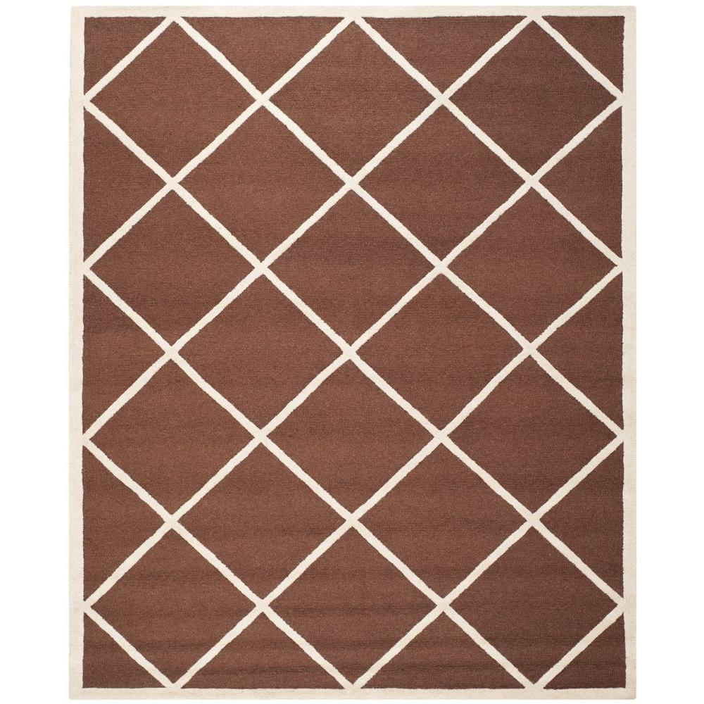 Safavieh Cambridge Dark Brown/Ivory 8 ft. x 10 ft. Area Rug