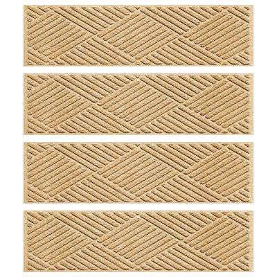 Gold 8.5 in. x 30 in. Diamonds Stair Tread Cover (Set of 4)