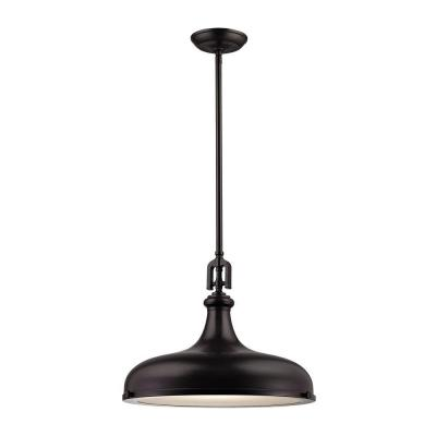 Rutherford 1-Light Oil-Rubbed Bronze Pendant