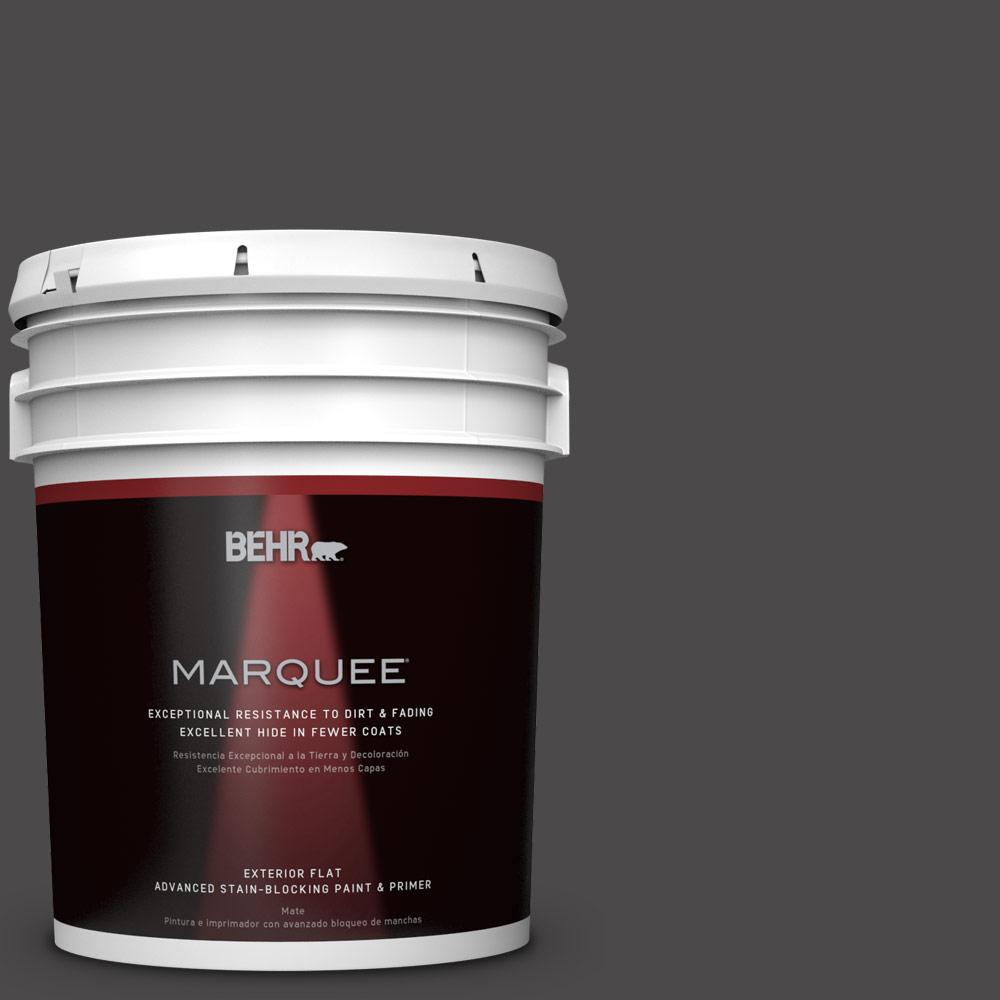 5-gal. #N530-7 Private Black Flat Exterior Paint