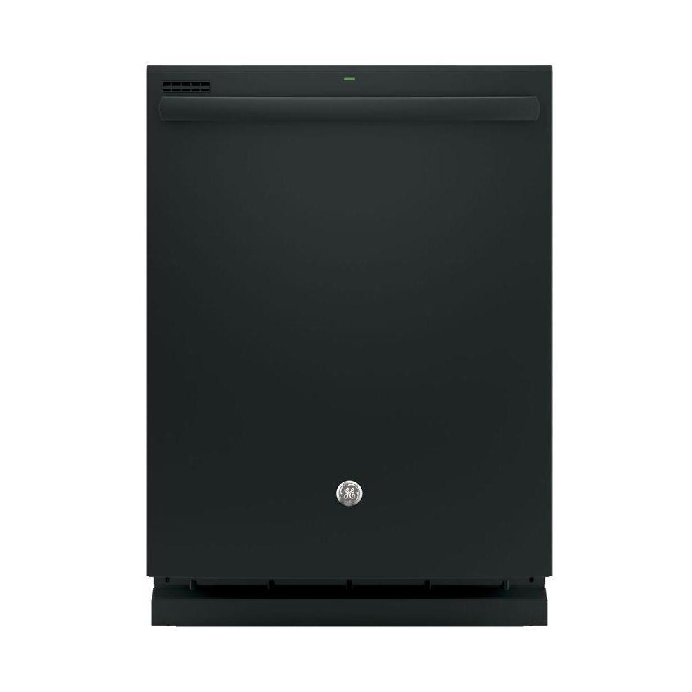 GE Top Control Dishwasher in Black with Steam Prewash