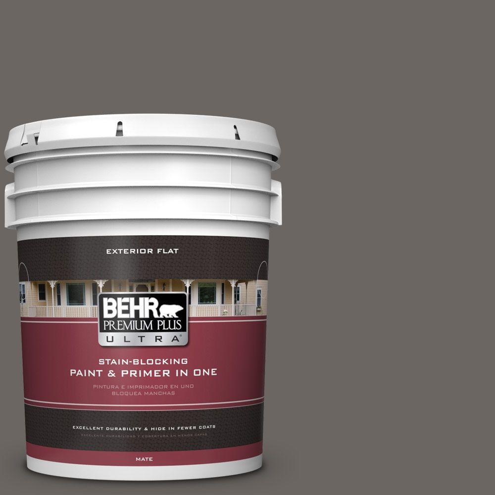 BEHR Premium Plus Ultra 5-gal. #790F-6 Trail Print Flat Exterior Paint