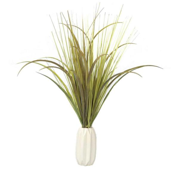 Laura Ashley 28 in. Tall Plastic Onion Grass Artificial Indoor/ Outdoor
