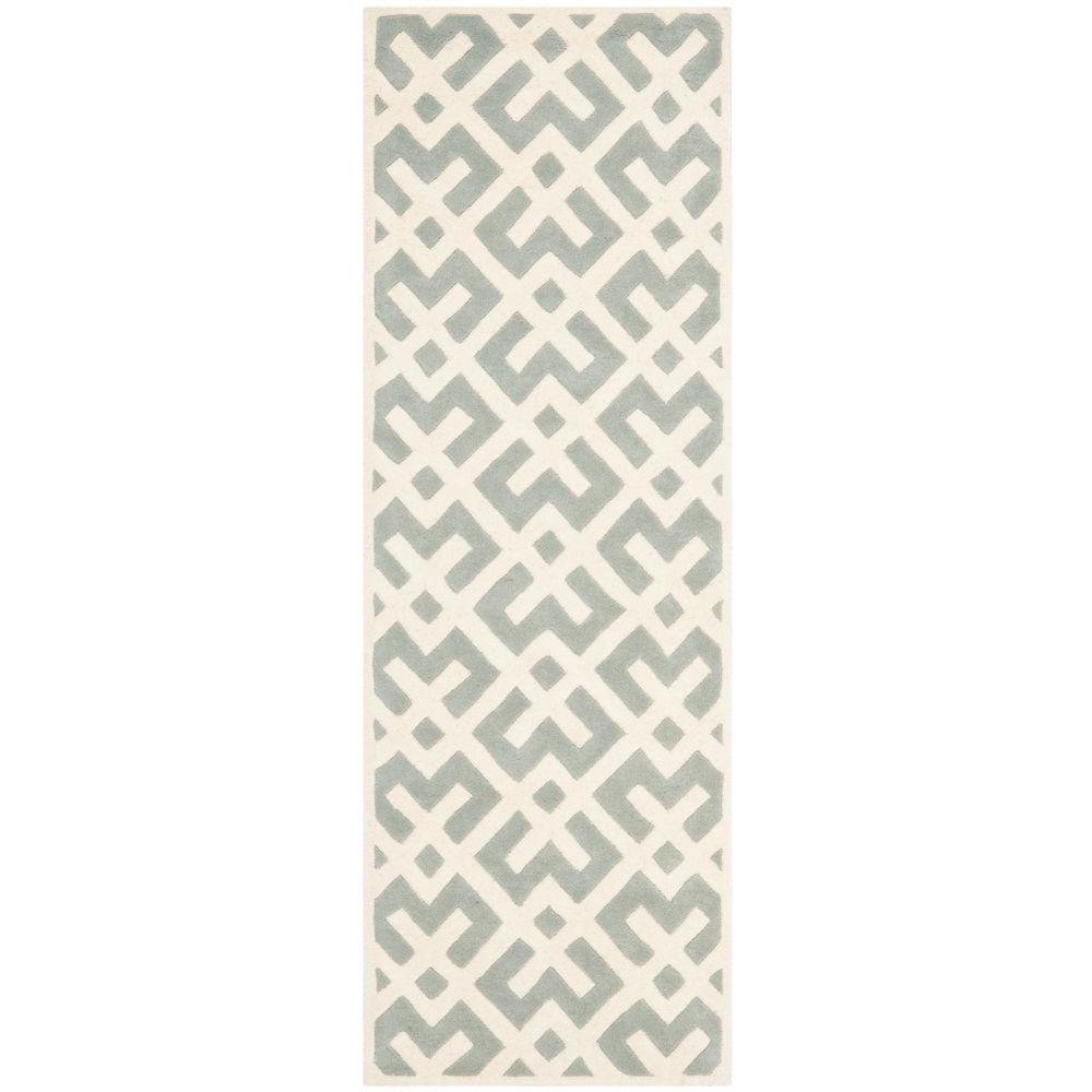 Safavieh Chatham Grey/Ivory 2 ft. 3 in. x 7 ft. Runner