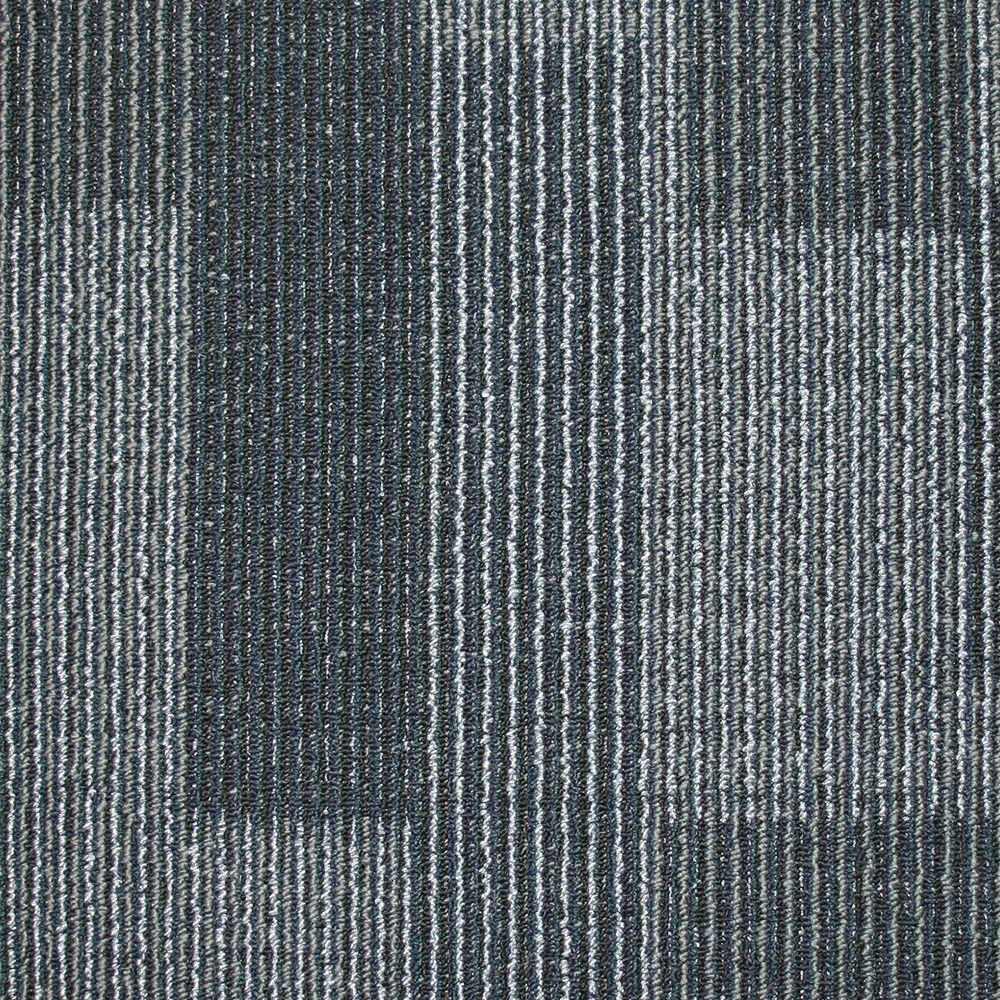 Rockefeller Midnight Blue Loop 19 7 In X Carpet Tile 20 Tiles