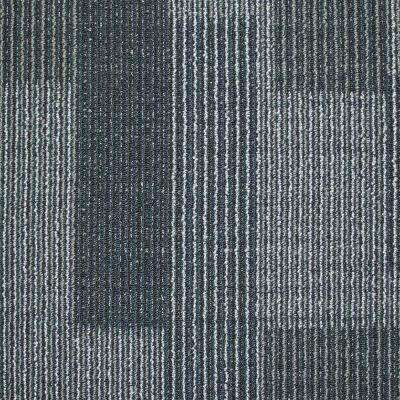 Rockefeller Midnight Blue Loop 19.7 in. x 19.7 in. Carpet Tile (20 Tiles/Case)