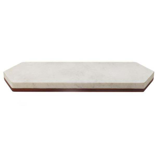 Urban Story Wood and Marble Flip Tray