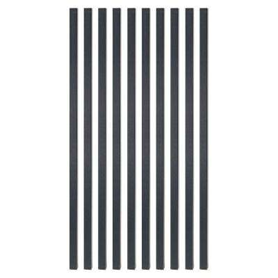26 in. x 3/4 in. Black Sand Steel Square Deck Railing Baluster (10-Pack)