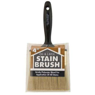 4 in. Oil and Stain Polyester Bristle Brush