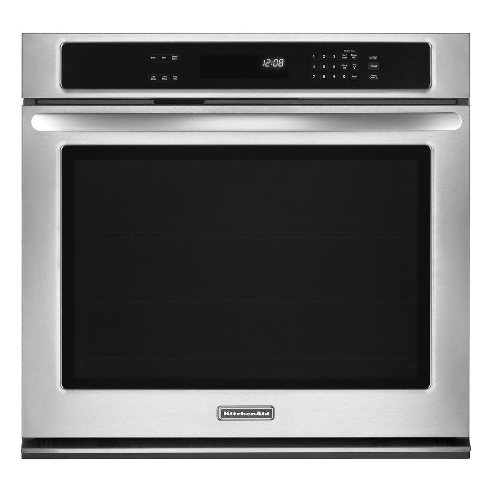 KitchenAid Architect Series II 30 in. Single Electric Wall Oven in Stainless Steel