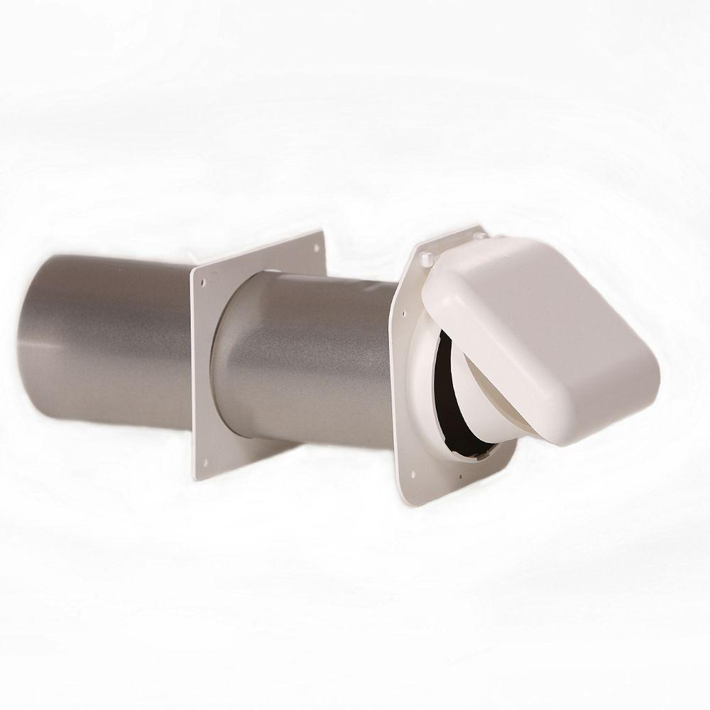 No-Pest Vent 4 in. Low Profile Dual Door Wall Vent in