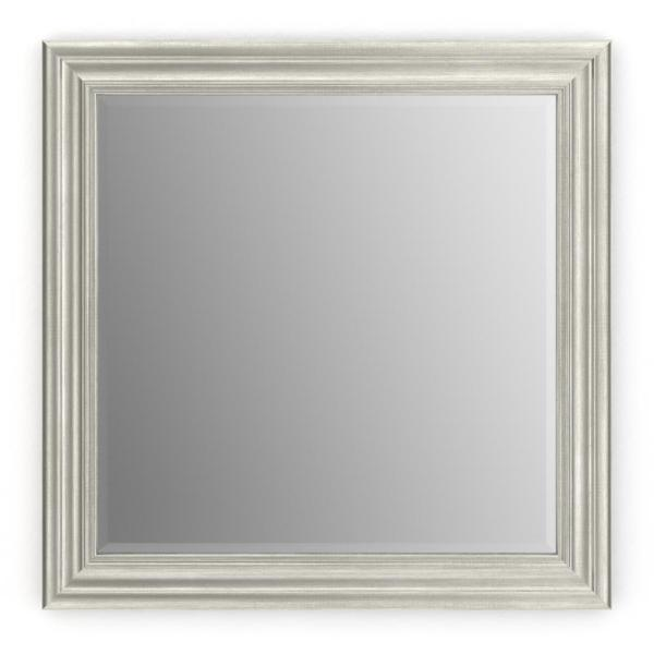 33 in. W x 33 in. H (L2) Framed Square Deluxe Glass Bathroom Vanity Mirror in Vintage Nickel