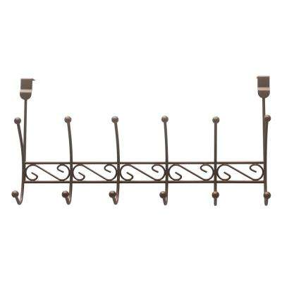 6-Hook Over-the-Door Rack