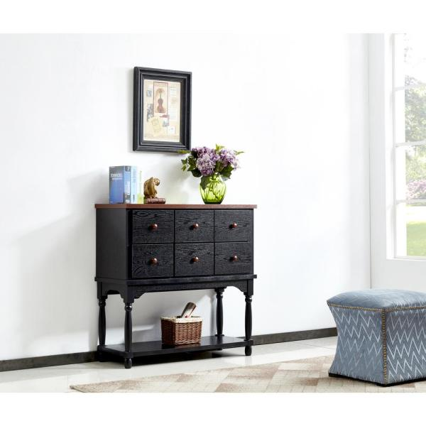 Boyel Living 36 In Black Console Sofa Table With Drawer And Bottom Shelf Entryway Table For Living Room Ma Am190701 Wb The Home Depot