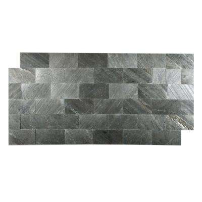 Black Line 3 in. x 6 in. Slate Peel and Stick Wall Tile (5 sq. ft. / pack)