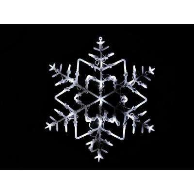 18 in. LED Lighted Snowflake Christmas Window Silhouette Decoration
