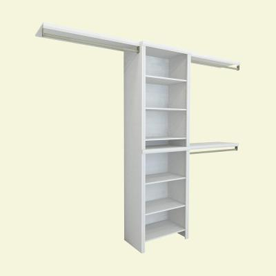 Impressions 5 ft. - 10 ft. 14.57 in. D x 120 in. W x 83 in. H White Basic Laminate Closet System