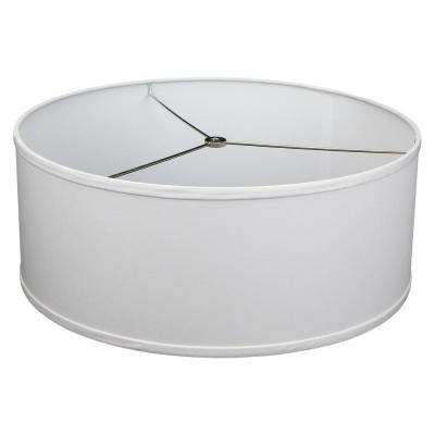 18 in. Top Diameter x 18 in. Bottom Diameter x 7 in. H Linen White Drum Lamp Shade