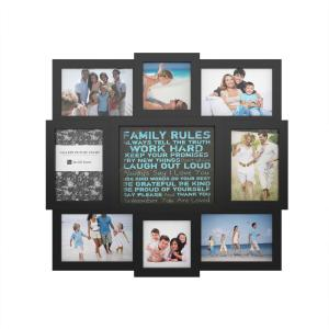Lavish Home 5 In X 7 In Black Picture Frame 6 Pack M021012 The